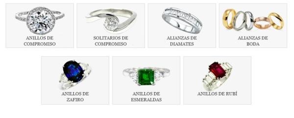 Anillos de Compromiso en Diamantes, Rubíes, Zafiros y Esmeraldas