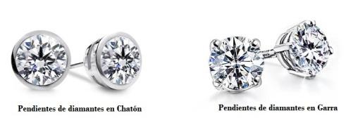 Clásicos Pendientes de Diamantes