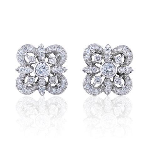 Pendientes de Diamantes en Oro Blanco